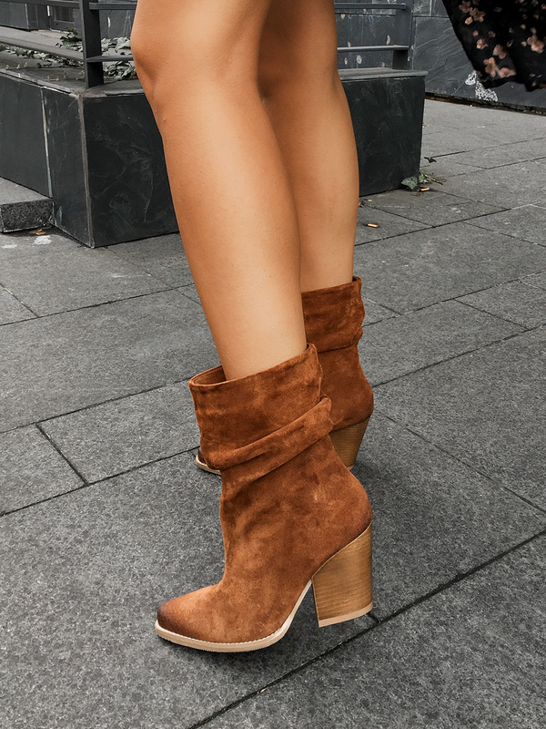 Brazowe Botki Saway Shoes Ankle Boot Boots