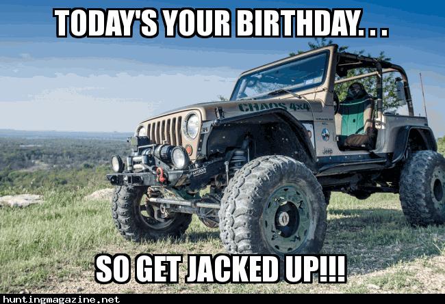 Funny Jeep Birthday Memes