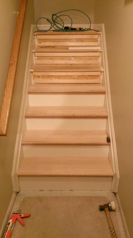 remodeling our staircase diy retread with nustair diy retread rh pinterest com