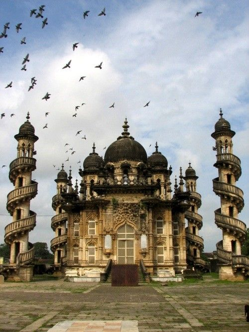 A fusion of Indo-Islamic architecture coupled with Gothic art form. Mahabat Maqbara, Junagadh, Gujarat.