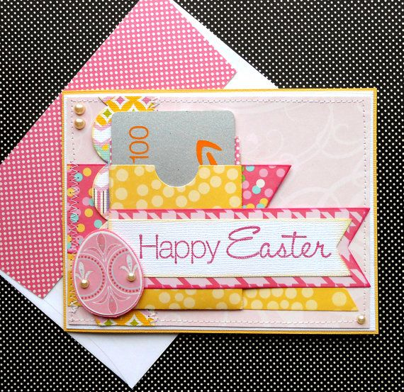 Easter gift card holder with matching embellished envelope easter gift card holder with matching embellished envelope easter egg negle Images