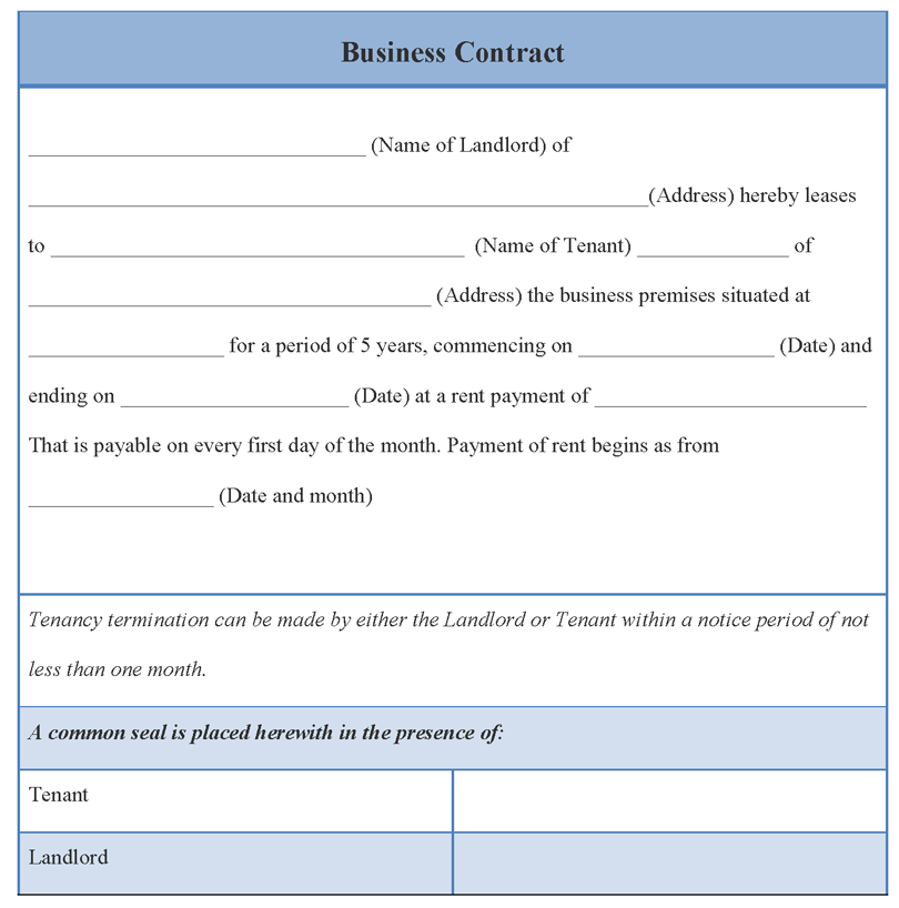 International Business International Business Contract Form