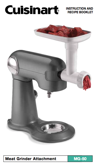meat grinder attachment mg 50 product manual product manuals rh pinterest com