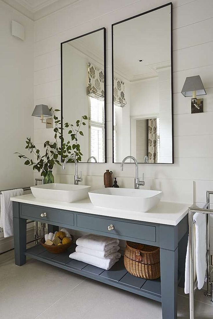 Nice 99 Modern Farmhouse Bathroom Vanity Design Ideas.