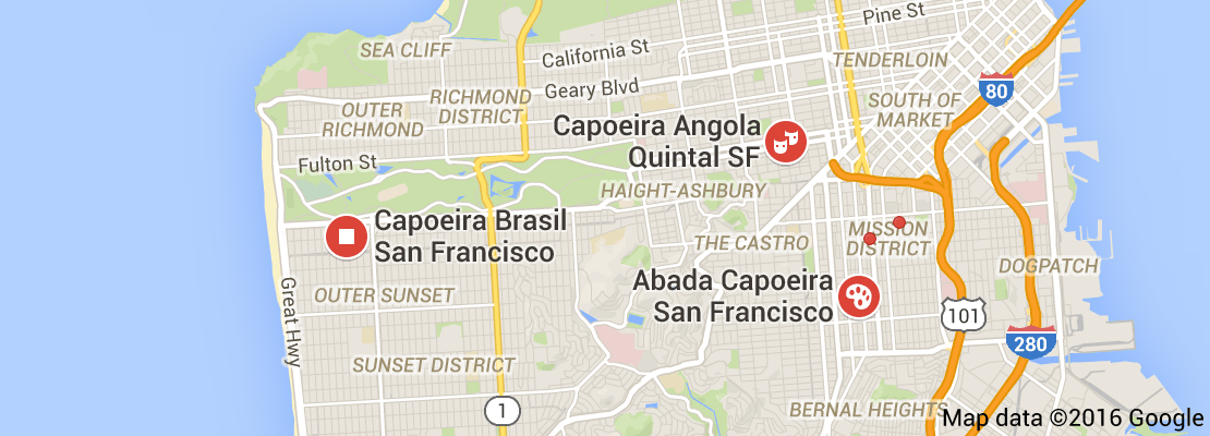 Map of capoeira san francisco california Viaje de Arquitectura