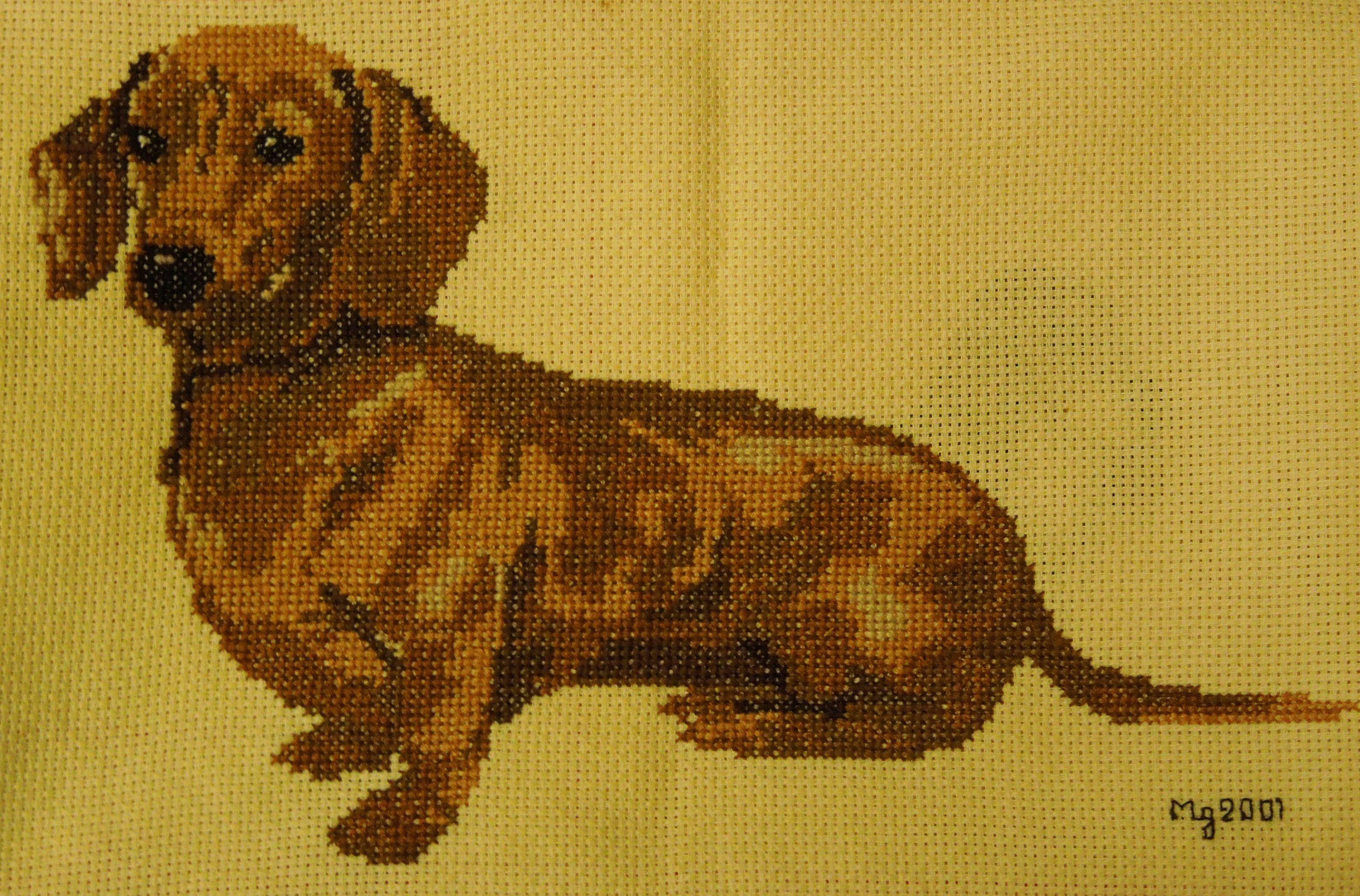 Cross Stitch Dachshund Cross Stitch Dachshund Cross Cross Stitch Embroidery