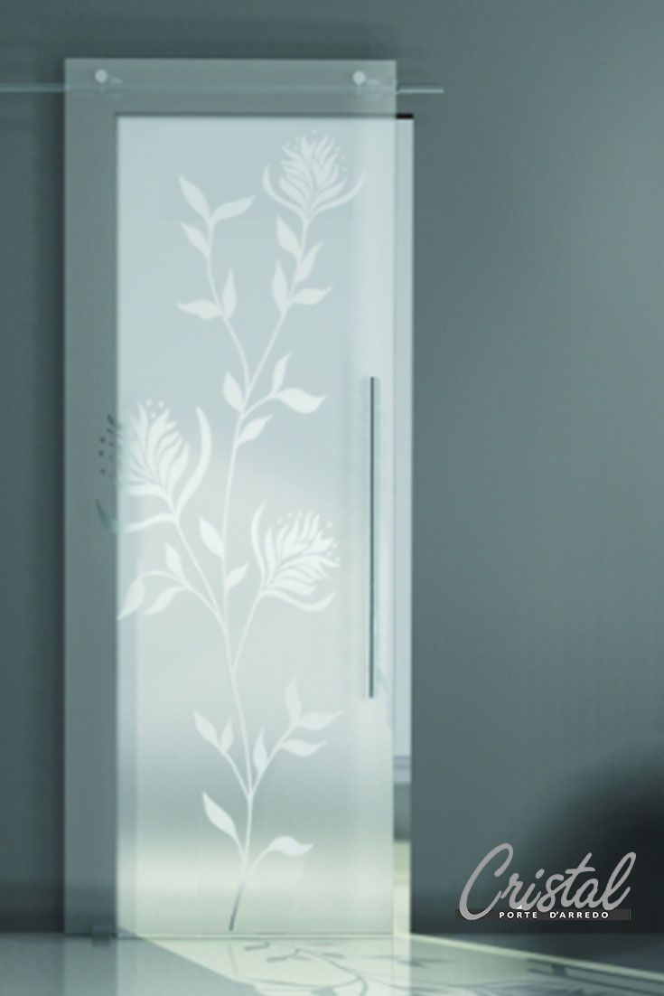 Fondo satinato decoro in vernice lido bianco e vetro i for Porte d arredo in vetro