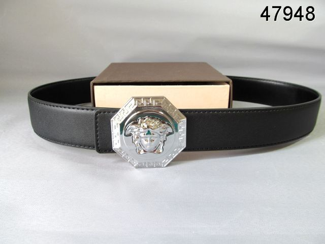 Versace Belts black silver medusa buckle 48  bd731a54659