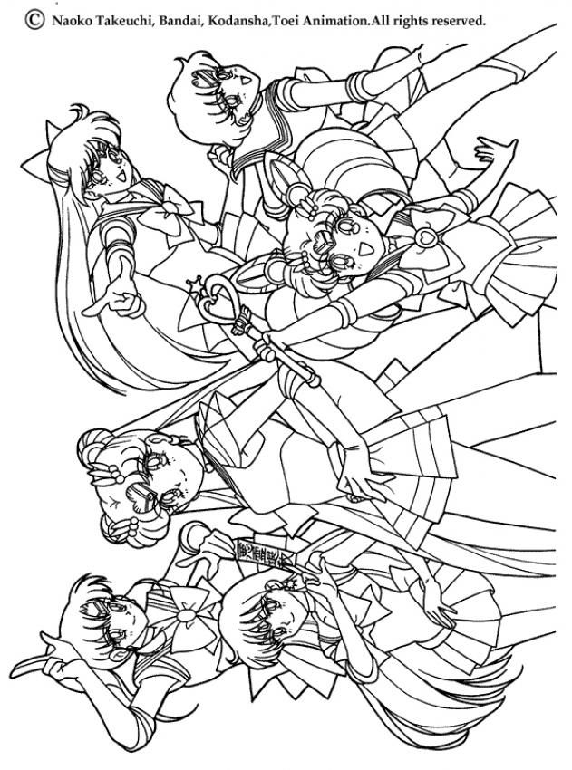 Sailor Moon Coloring Pages Sailor Warriors Coloring For Big Kids