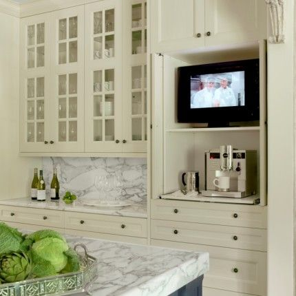 Natural White Ivory Kitchen Ivory Kitchen Cabinets Tv In Kitchen