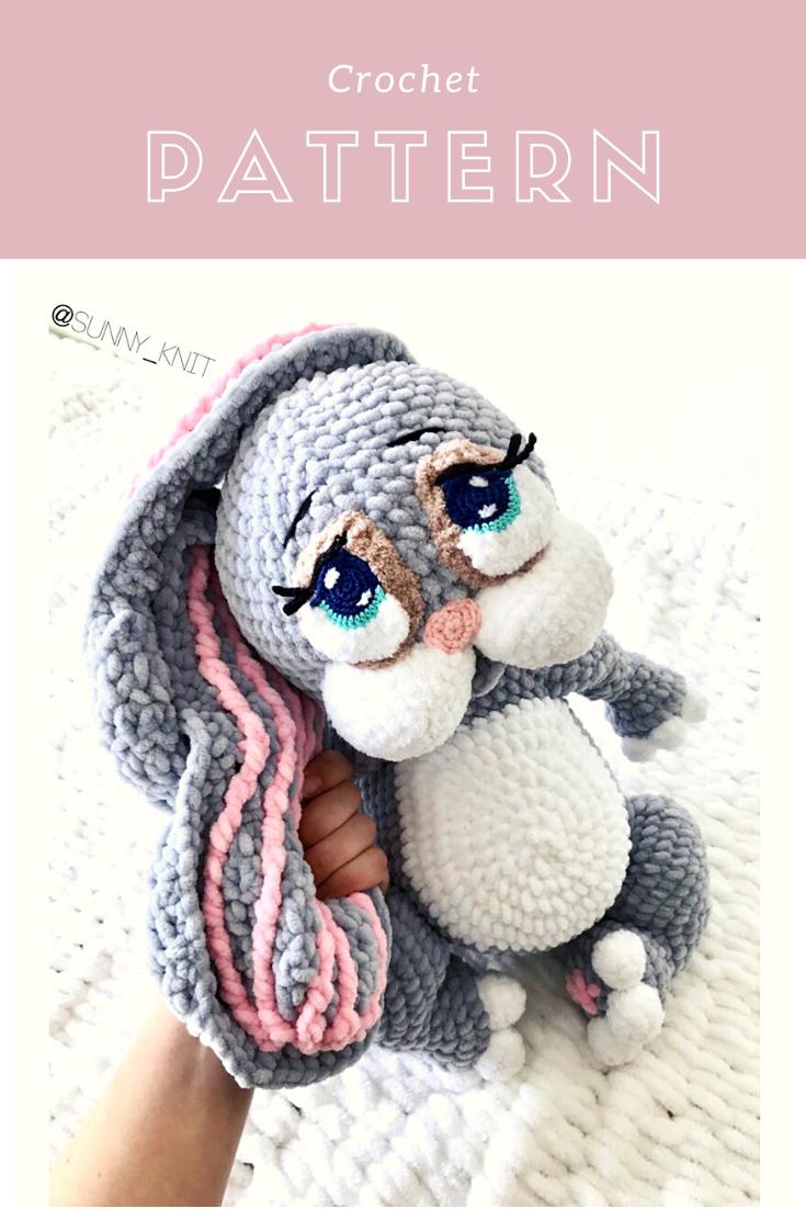 Handmade Crochet Amigurumi GRAPE = Easter Bunny