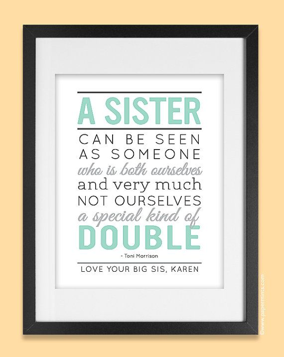 Personalized Gift For Sister 8x10 Sisters Quote By Papermints 25 00
