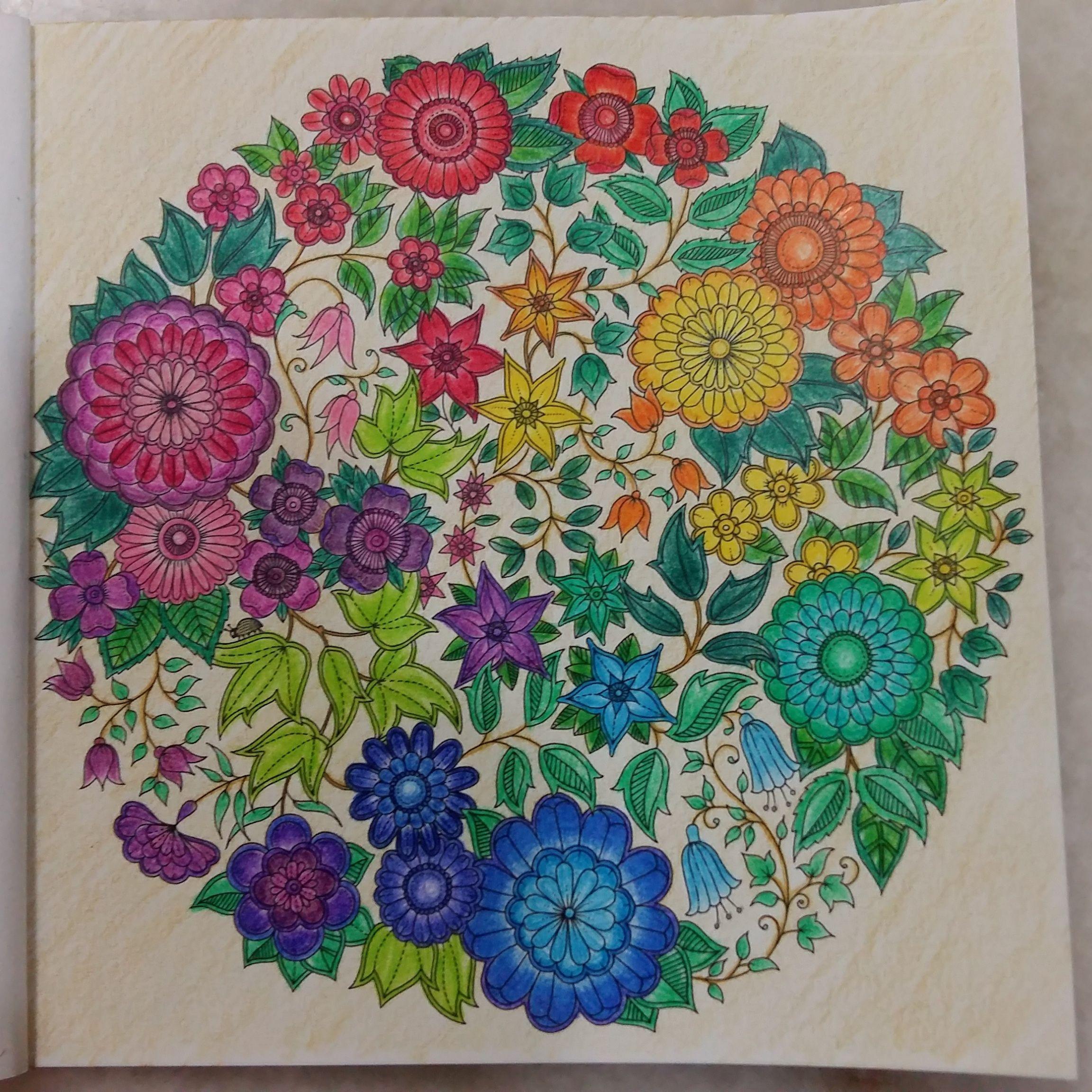 SecretGarden Coloringbook Rainbow Flowers