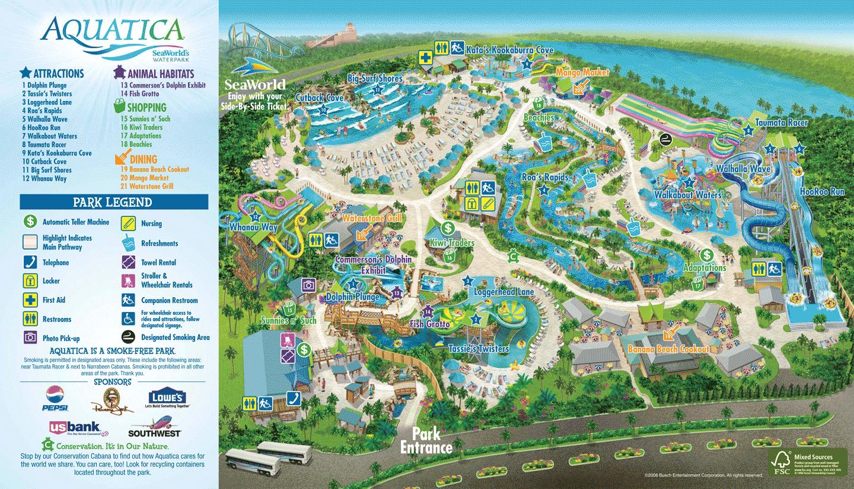 Park Map Aquatica Orlando SeaworldAquatica
