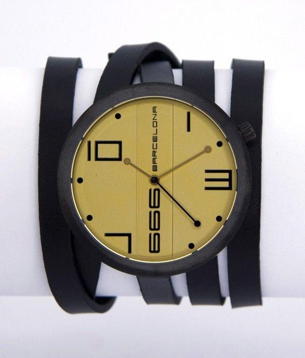 129c0851d0e9 Reloj 666 Barcelona John Black Color Champagne
