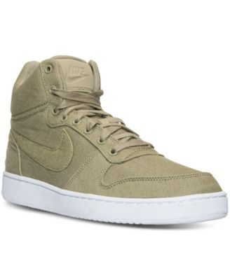 new arrival 299e0 15d5a NIKE Nike Men s Court Borough Mid Premium Casual Sneakers from Finish Line.   nike  shoes   all men