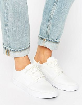 Women Nike SB Portmore Trainers In Off White
