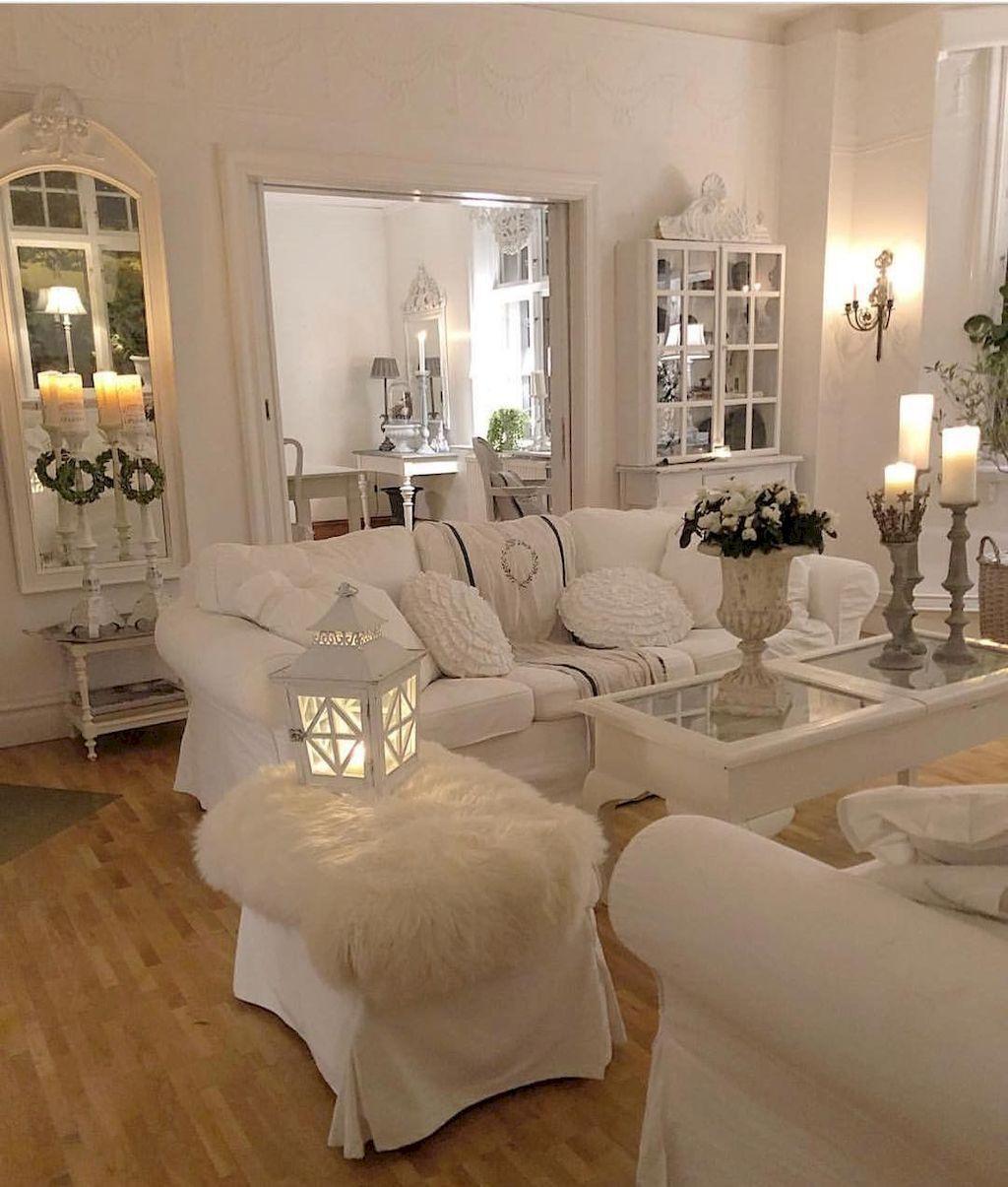 16 Romantic Shabby Chic Living Room Decor Ideas - #16 #chic #Decor