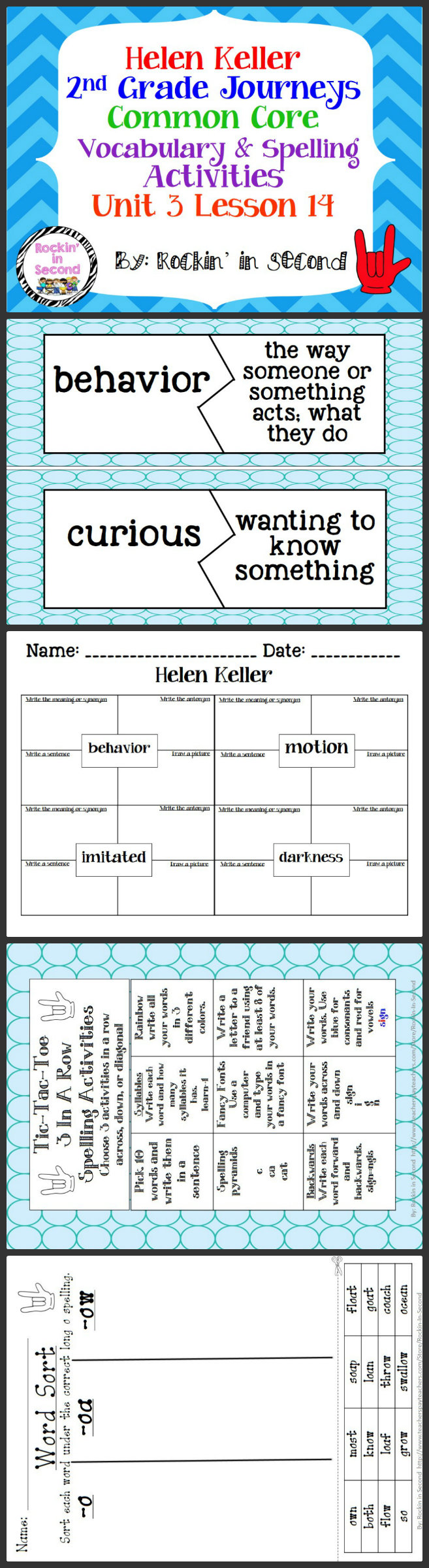 Preposition In Learn In Marathi All Complate: Journeys Helen Keller Spelling & Vocab. Activities Lesson