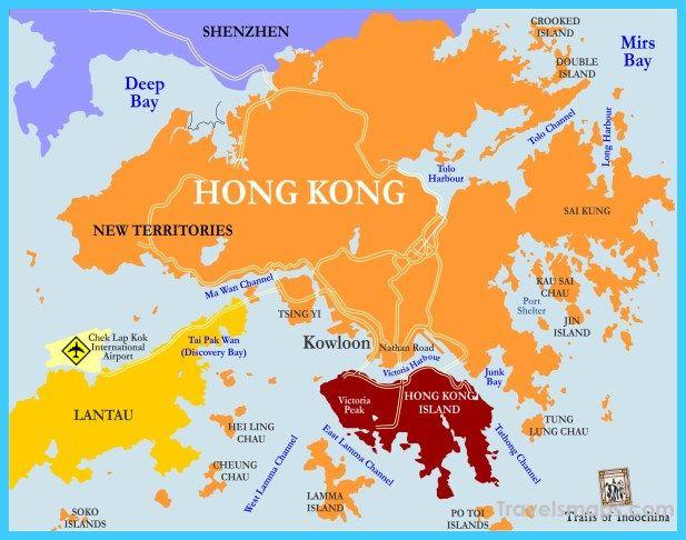 Map Of Asia Hong Kong.Awesome Map Of Hong Kong Travelsmaps Hong Kong Asia Map Map