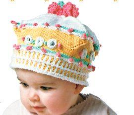 83cfaa613cd Knitting Kit Baby Beret Hand Knitting Pattern Knitting Kit Cotton Newborn  Beret Baby Girl Hat Newborn Hat Hand Knitting Debby Ware Pattern