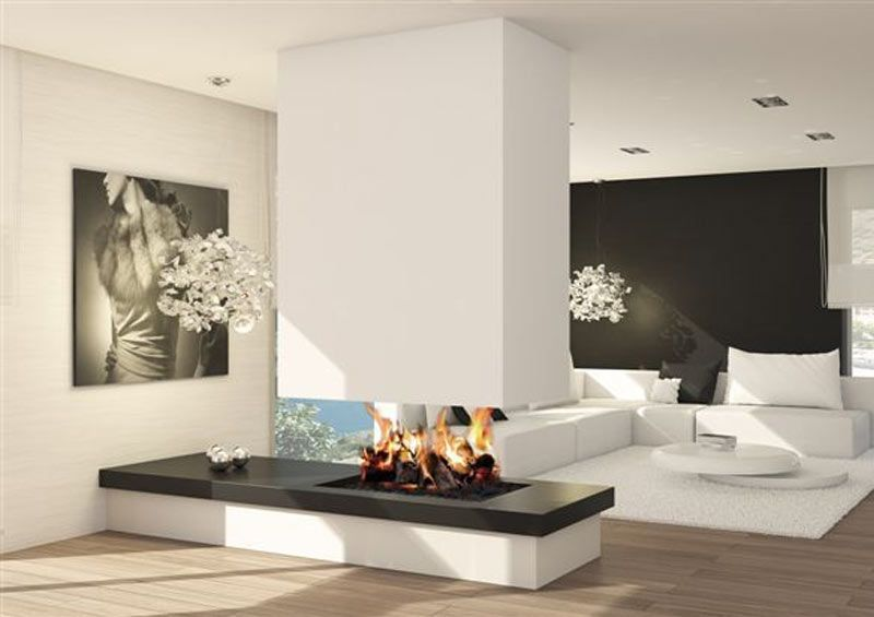 Pin de elba mobilio en casas tipo casa pueblo modern fireplace fireplace design y modern - Chimeneas modernas decoracion ...