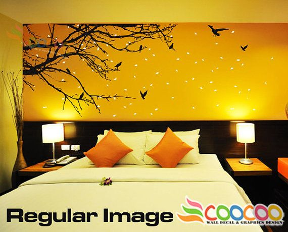 Wall Decor Decal Sticker Mural Big Removable Medium size Corner Top ...