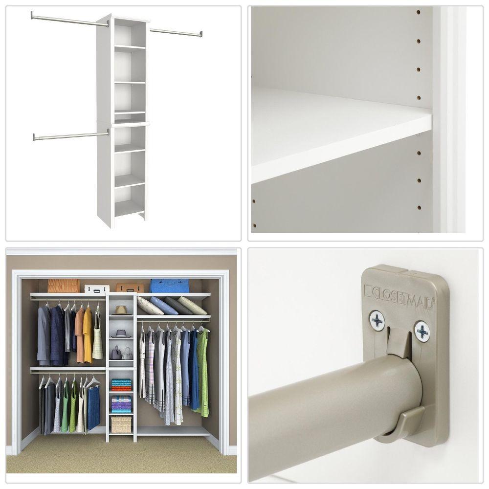 white narrow small space bedroom closet organizer 8 shelves for rh pinterest com