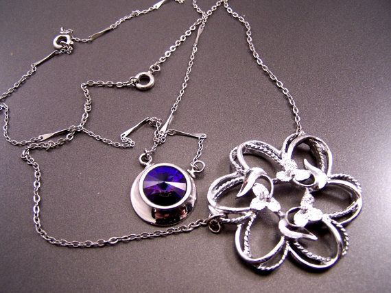 Sarah Coventry upcycled  Pendant by LucysPlunder on Etsy, $4.99