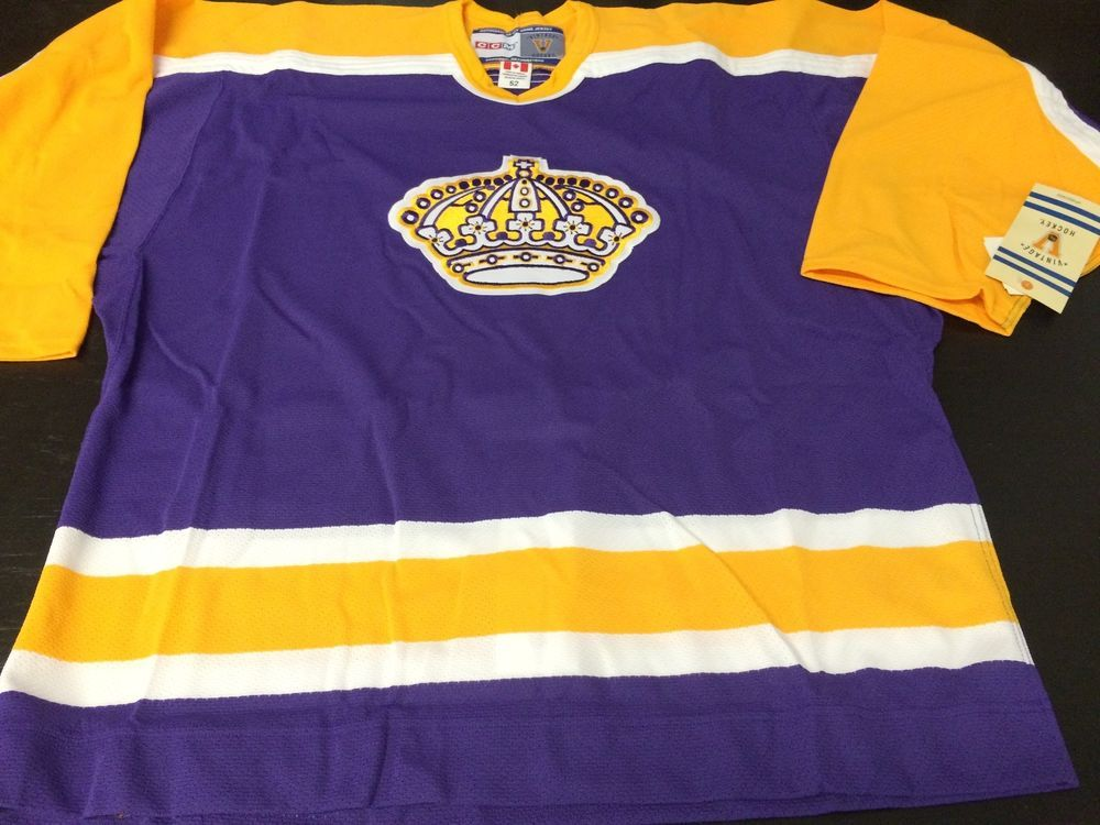 huge discount 6741a d3bc2 LOS ANGELES KINGS VINTAGE PURPLE N GOLD AUTHENTIC NHL ...