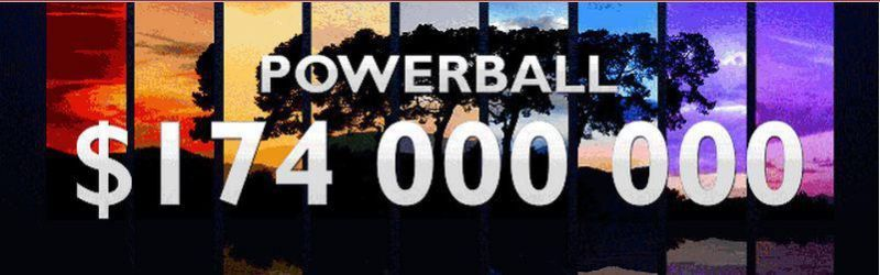 The lottery:        POWERBALL is playing for $ 174 million      EuroMillions about € 26 million,      SUPERLOTTOPLUS about $ 25,5 million,      OZPOWERBALL of $ 31,300,000 and an even more.    You can also add competition to the American dream ... Remember, ANYTHING IS POSSIBLE
