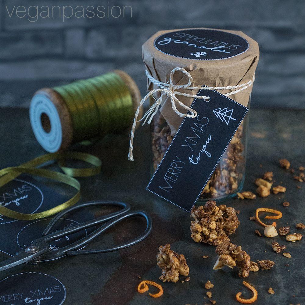 Mit veganem Spekulatius ist das Rezept vegan! Spekulatius Granola