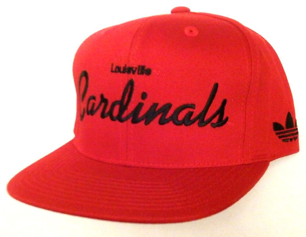 College basketball · NEW$24 LOUISVILLE CARDINALS SNAPBACK HAT Red/Black  ADIDAS ...