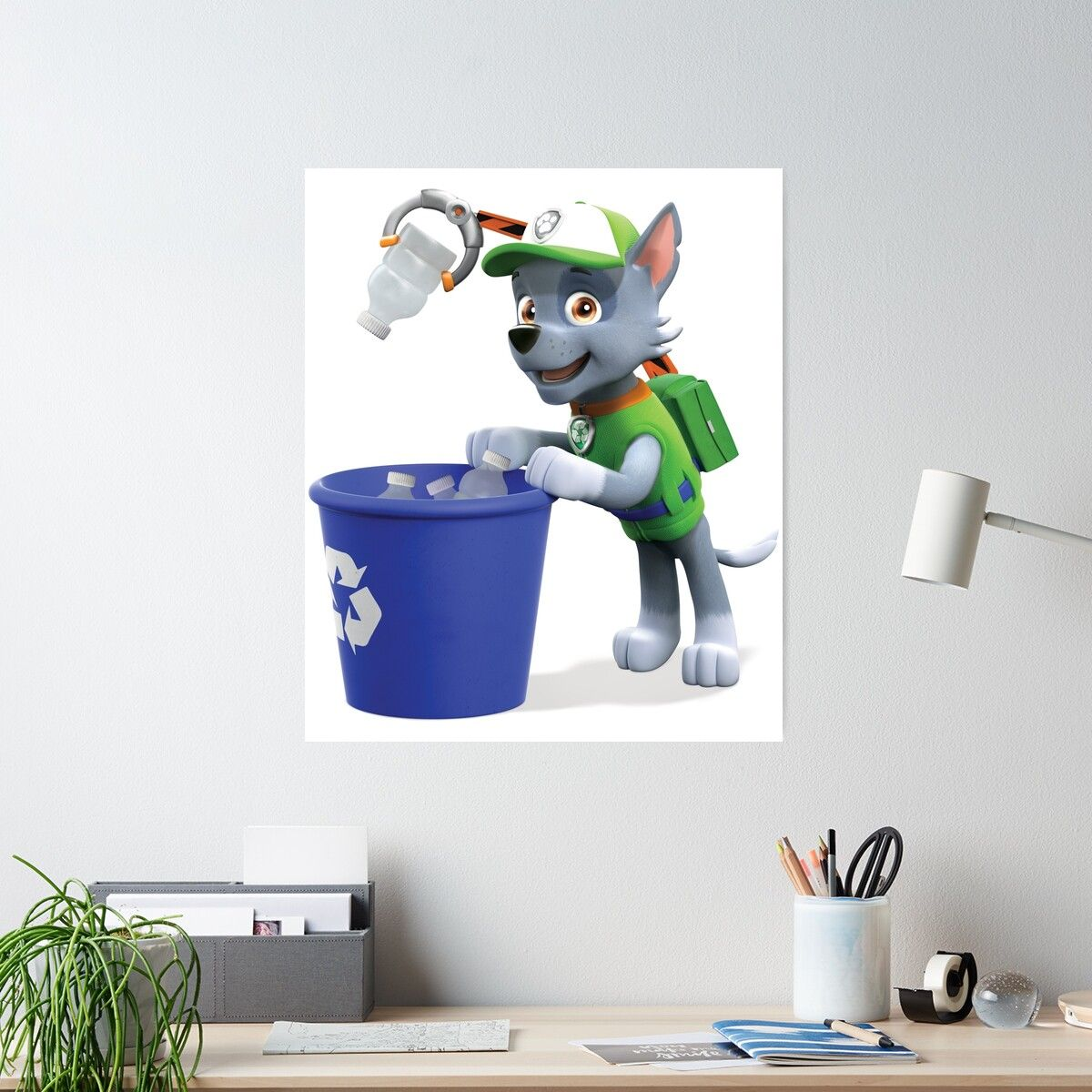 PAW Patrol Rocky Recycling Poster - Paw patrol rocky, Paw patrol, Paw patrol party, Paw, Recycling, Rocky - Highquality posters to hang in dorms, bedrooms or offices  Multiple sizes are available  Printed on 185gsm semi gloss poster paper  Additional sizes are available  PAW Patrol Rocky Recycling