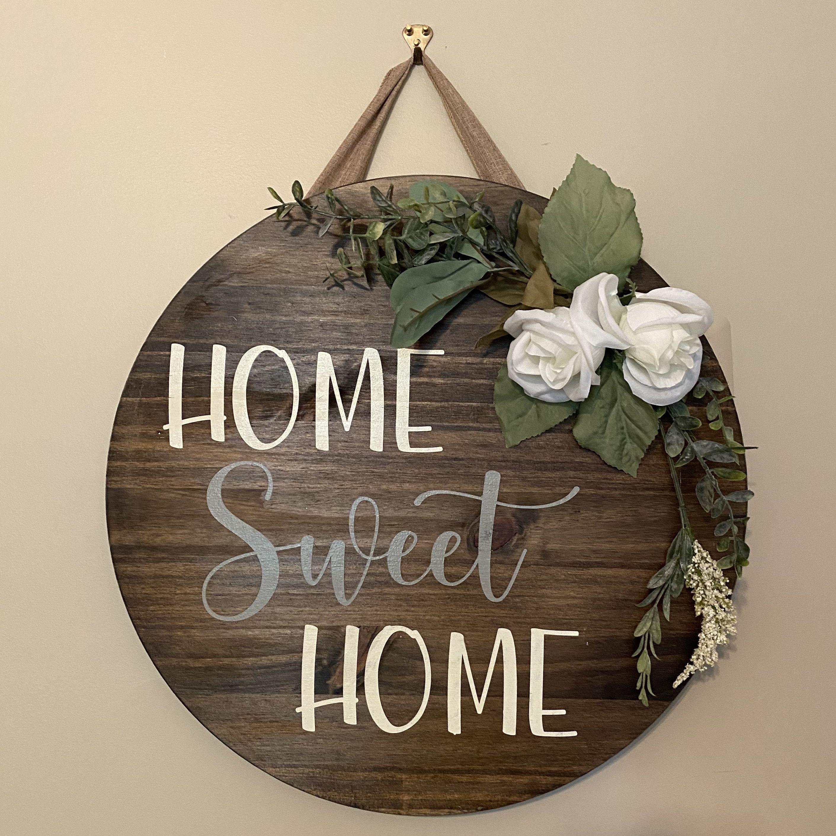 Home Sweet Home Door Hanger Door Decor Housewarming Gift Etsy In 2020 Wooden Signs For Sale Sweet Home Door Decorations