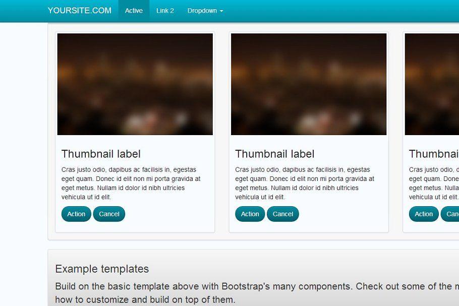 Bootstrap 3.0. Classic Blue theme Classic blue, Modern