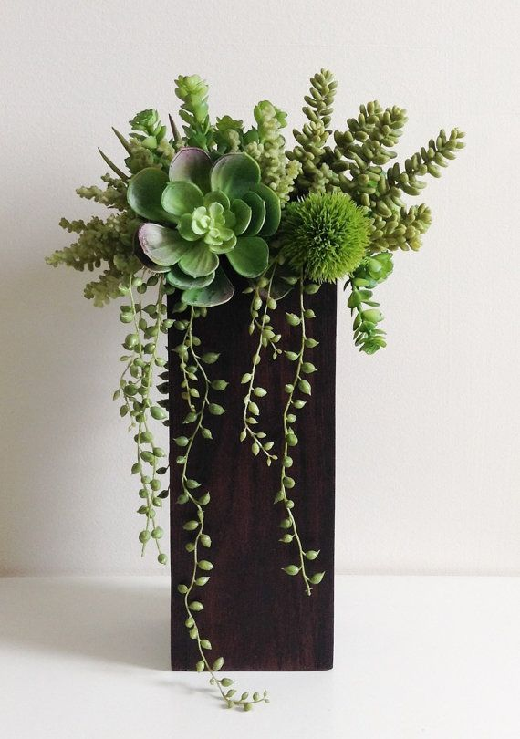 Image result for tall vase succulent arrangements   Office ...