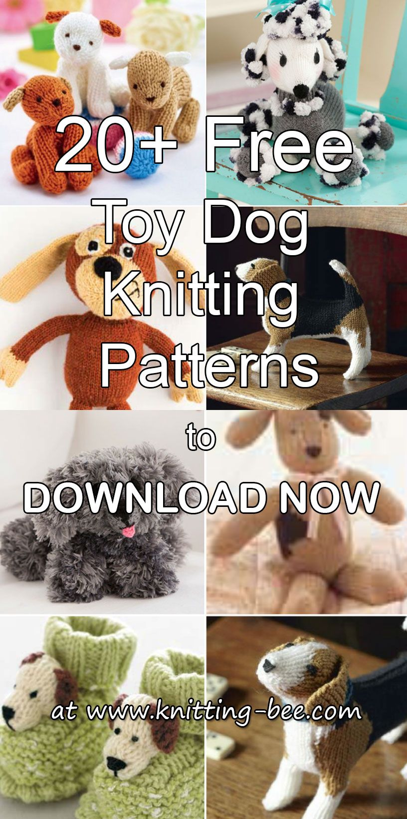 28bd5c4570185b More than 20 Free Toy Dog Knitting Patterns to Download Now http   www
