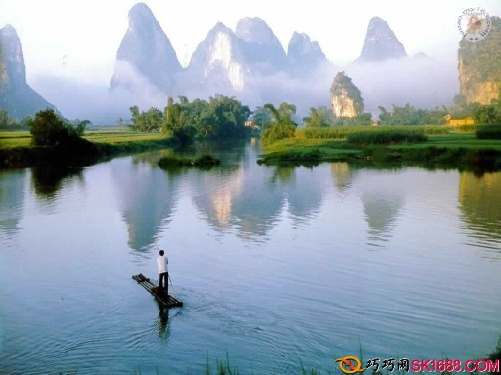 Li River in Guilin China One of