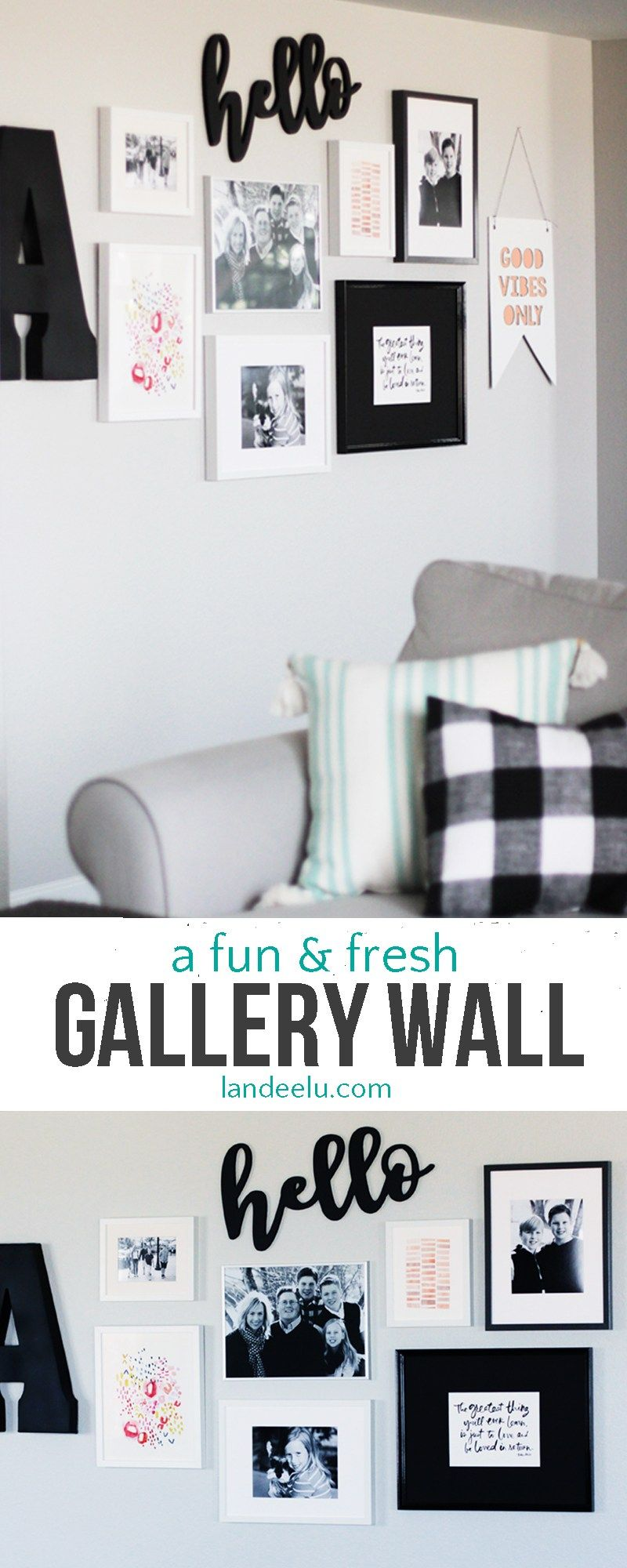 Create an eye catching gallery wall with interesting