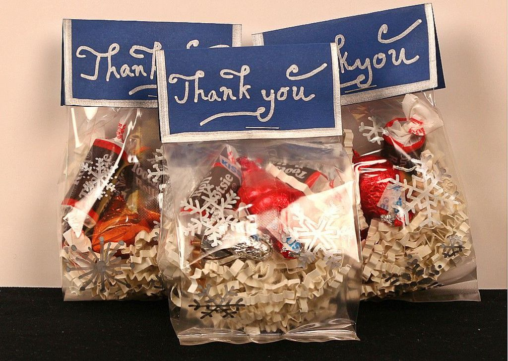 Goo Bags Idea For Winter Snowflakes Candy