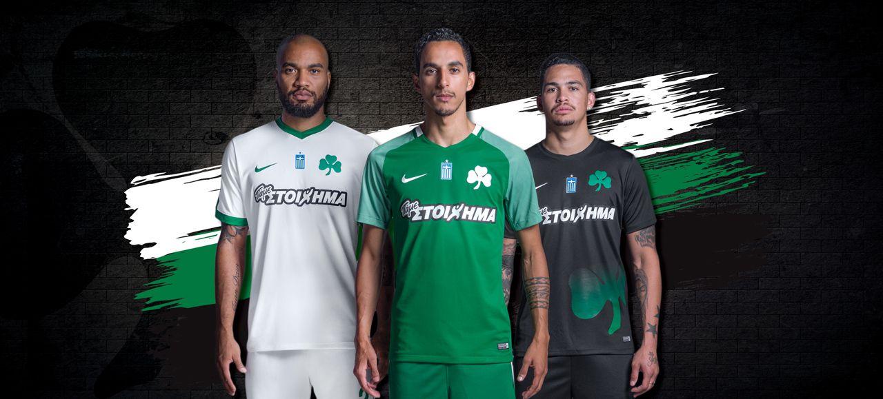 Camisas o Panathinaikos 2017-2018 Nike Novos Uniformes 5b627c3483573