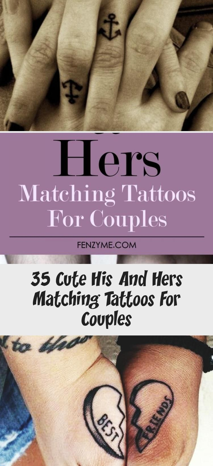Photo of 35 Cute His And Hers Matching Tattoos For Couples – Tattoos