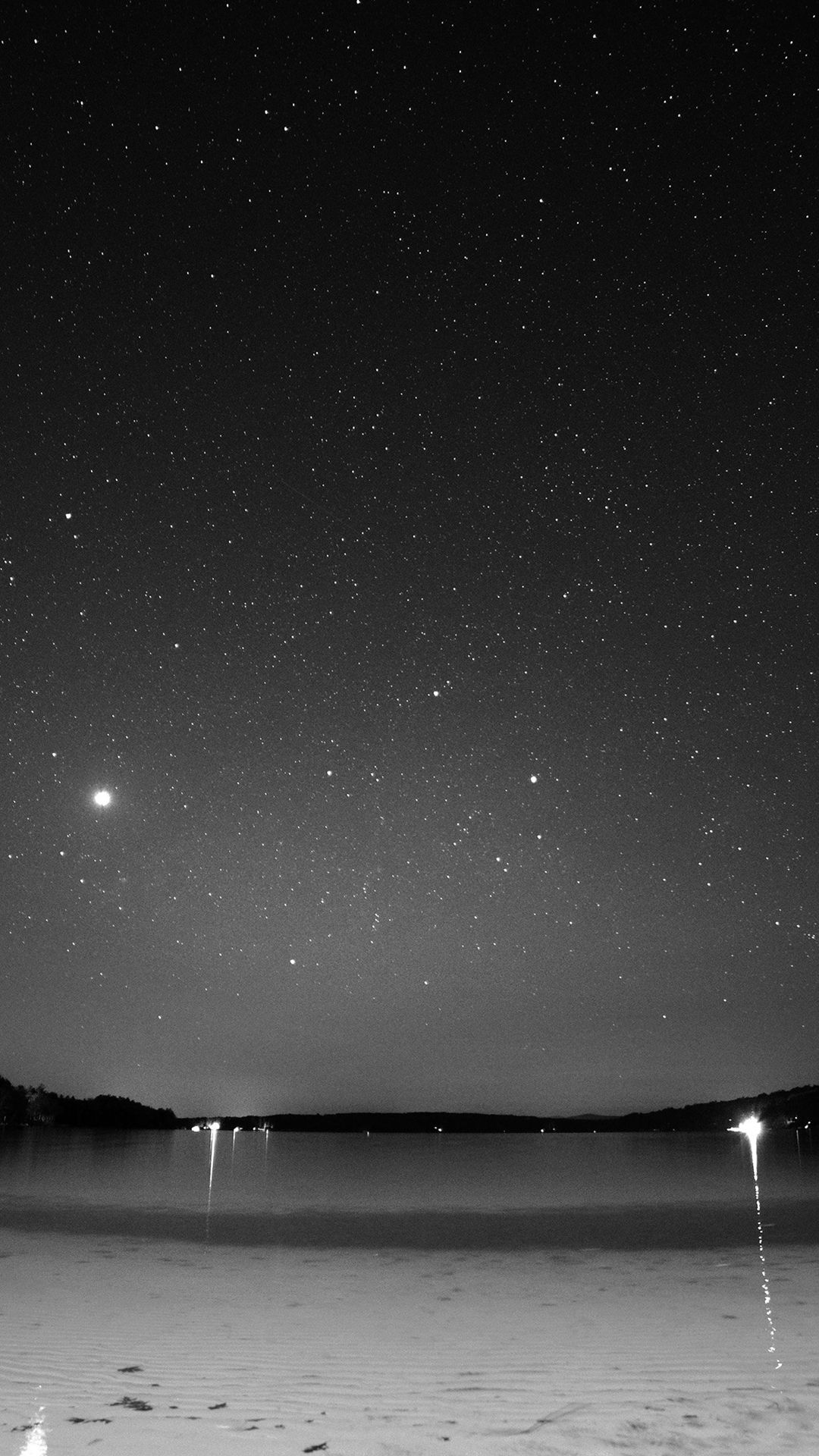 Night Beach Sea Vacation Nature Star Sky Dark Bw Iphone 8 Wallpapers Iphone 5s Wallpaper Star Sky Wallpaper
