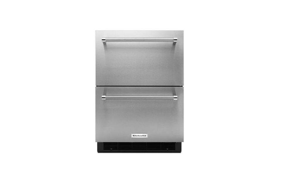 Kitchenaid 24 in stainless steel double refrigerator