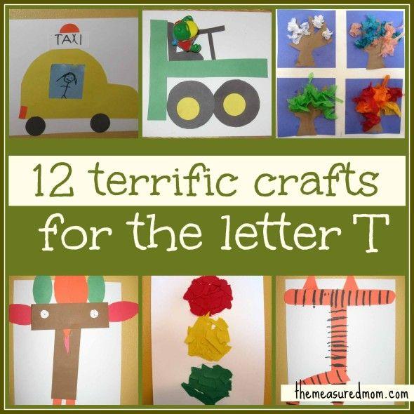 Preschool Crafts For Letter T Letter T Crafts Letter A Crafts Letter Activities Preschool Letter t activities for kindergarten