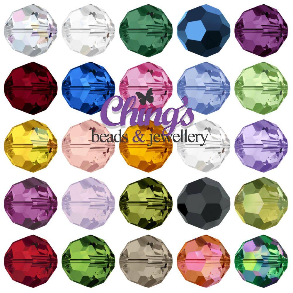 cc1c56357c Swarovski Crystal 5000 Round 4mm 6mm 8mm 10mm Beads All Colours Color  Crafts, Barbie Shop