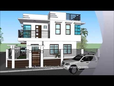 Modern storey house with roofdeck youtube two plans double also housedesignerbuilder june all rights reserved quezon city rh pinterest