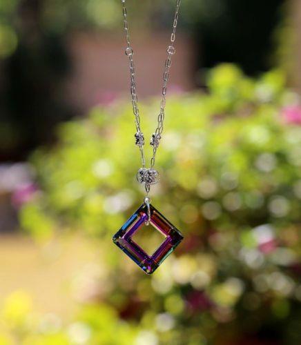 Swarovski-Necklace-Sparkling-Radiance-Tourmaline-Swarovski-Crystal-Square