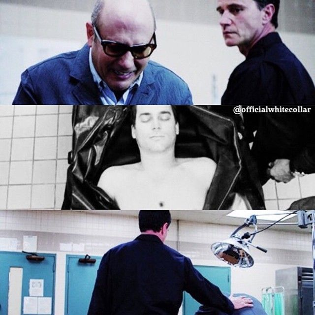 So sad. Made me cry. Peter and Mozzie seeing Neal's body.